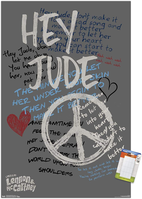 "Trends International John Lennon and Paul McCartney - Jude Wall Poster, 22.375"" x 34"", Poster & Mount Bundle"