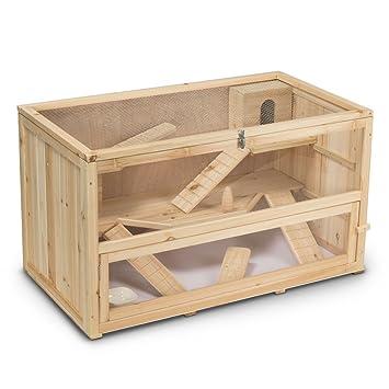 Timbo Jaula de Madera para hámsteres y roedores (100 x 55 x 55 cm)