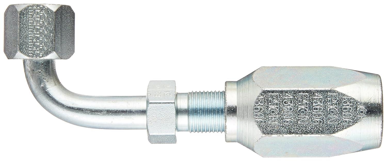AISI//SAE 12L14 Carbon Steel SAE 37 Degree EATON Weatherhead 43606N-666 90 Degree Female Swivel Tube Elbow Fitting 3//8 Tube Size 3//8 Hose ID 3//8 Tube Size 3//8 Hose ID
