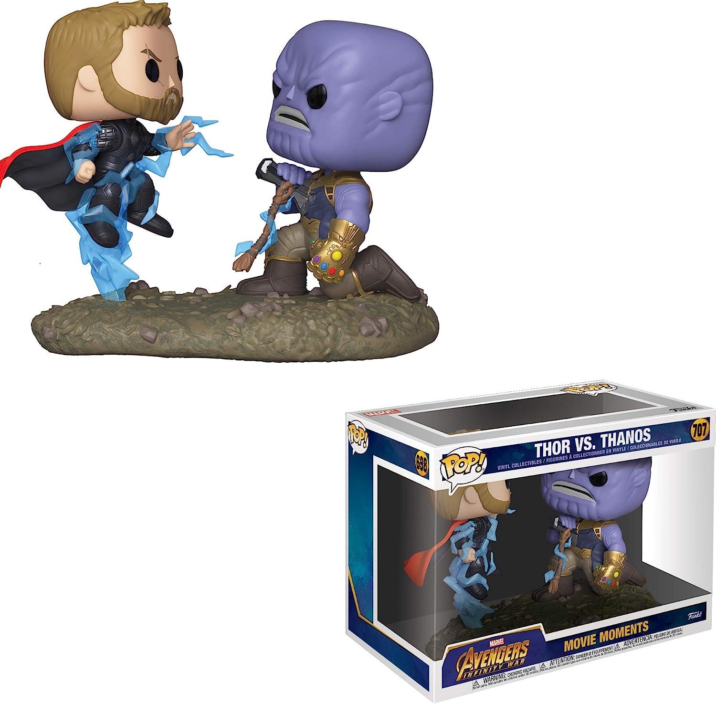 Funko- Pop Bobble 2-Pack: Marvel: Movie Moments: Thor vs Thanos Figura Coleccionable, Multicolor, Talla única (35799)