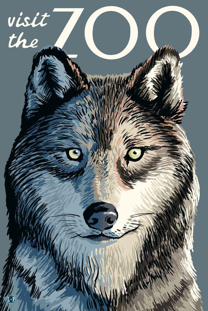 ウルフUp Close – Visit the動物園 36 x 54 Giclee Print LANT-25489-36x54 36 x 54 Giclee Print  B017EA09LI