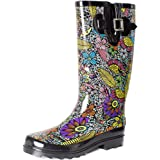 SheSole Women's Waterproof Rubber Rain Boot