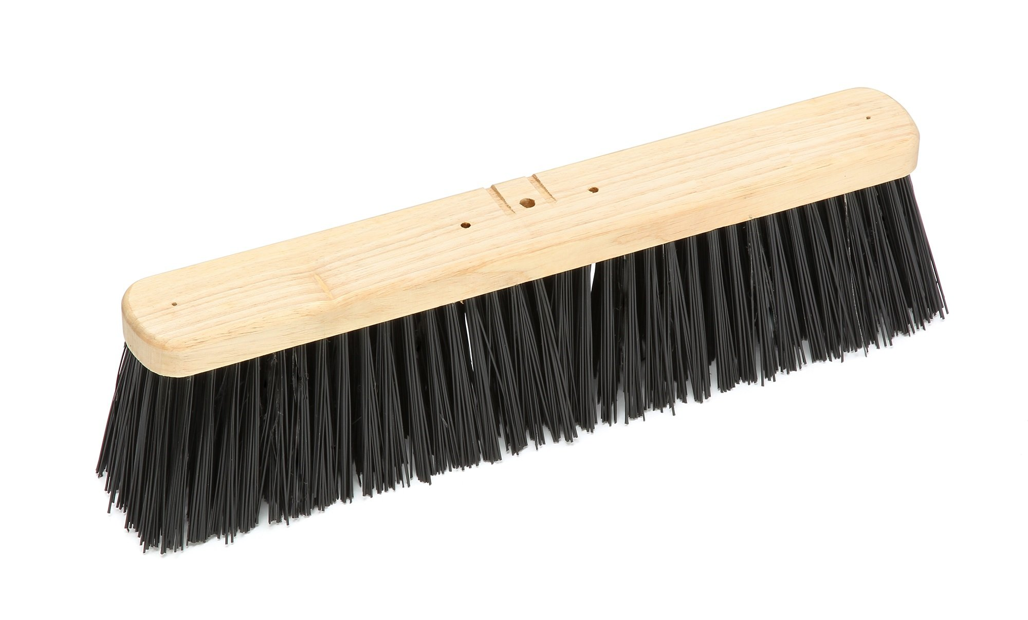 Harper Brush 143712 Broom Head, Polypropylene Fiber, Outdoor, Rough Wet or Dry Surface, Hard Wood, 18'' (Pack of 6)