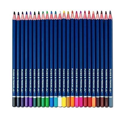 Pluqis Premium Art Quality Colored Pencils Set Of 24 Colors Pre Sharpened