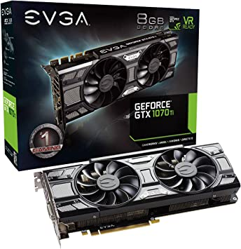 EVGA GeForce 08G-P4-5671-KR, GTX 1070 Ti SC GAMING ACX 3.0 Black Edition, 8GB GDDR5, EVGA OCX Scanner OC, White LED, DX12OSD Support (PXOC) Graphics ...