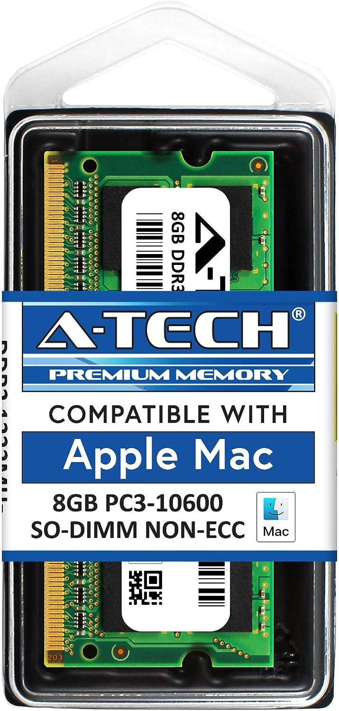 A-Tech for Apple 8GB Module PC3-10600 Mac Mini iMac MacBook Pro Mid 2010 Late 2011 A1286 MD311LL/A A1297 MC511LL/A A1312 MC309LL/A A1311 MC812LL/A MC813LL/A MC814LL/A MC815LL/A A1347 Memory RAM