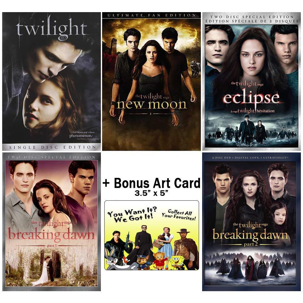Amazon.com: The Complete Twilight Saga Collection: Movies 1-5 + ...