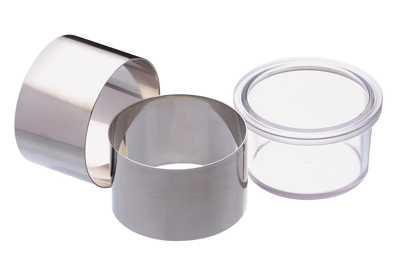 Kitchen Craft Master Class Anelli per cucinare in acciaio INOX, set da 2 Kitchen Chef MCRINGPUSH