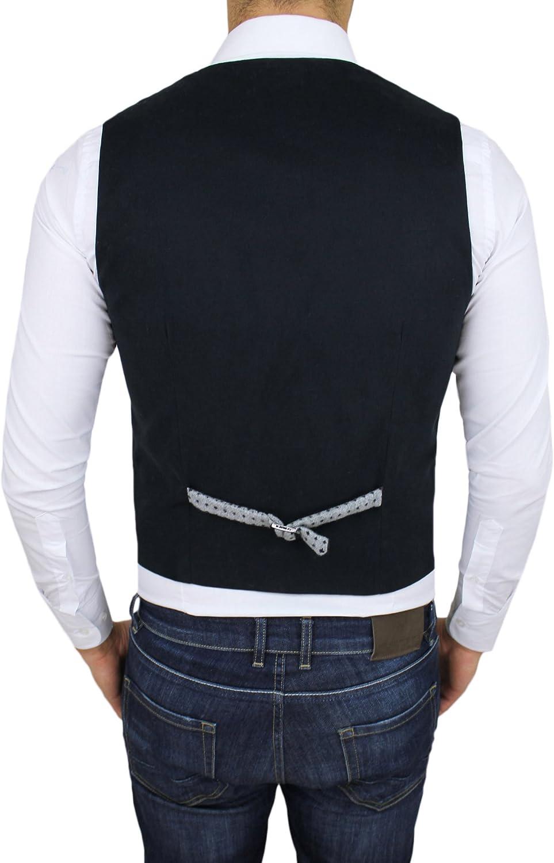 Gilet smanicato uomo sartoriale grigio a pois casual elegante invernale in lana