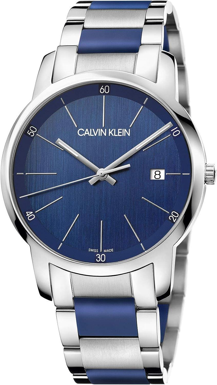 Calvin Klein Reloj Analógico-Digital para Unisex Adultos de Cuarzo con Correa en Acero Inoxidable K2G2G1VN