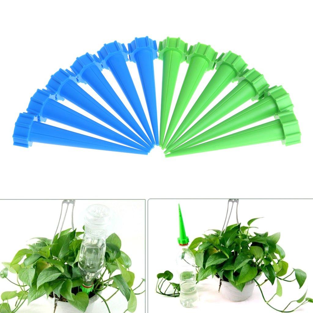 Jiamins 12 Pcs/Set Garden Cone Watering Spike Flower Plant Waterer Bottle Control Drip Irrigation System