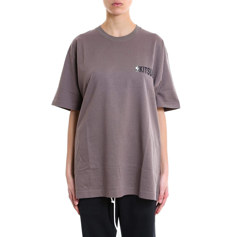Maison Kitsuné Women's SPNBM701GREY Grey Cotton TShirt