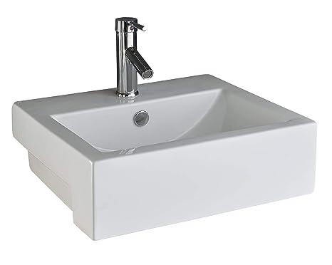 Clickbasin santana cm cm semi incasso lavabo bagno