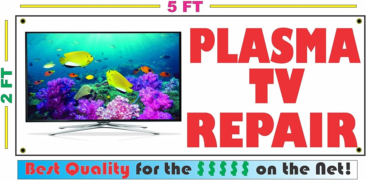 Amazon Com Plasma Tv Repair All Weather Full Color Banner Sign Office Products