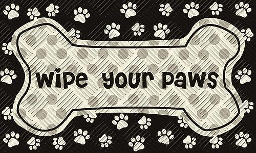Evergreen Garden 41EM2167 Wipe Your Paws Floor Embossed Door Mat, Multicolor
