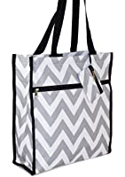 A Collection of Medium Tote Bags With Pockets and Zippers 12-inch