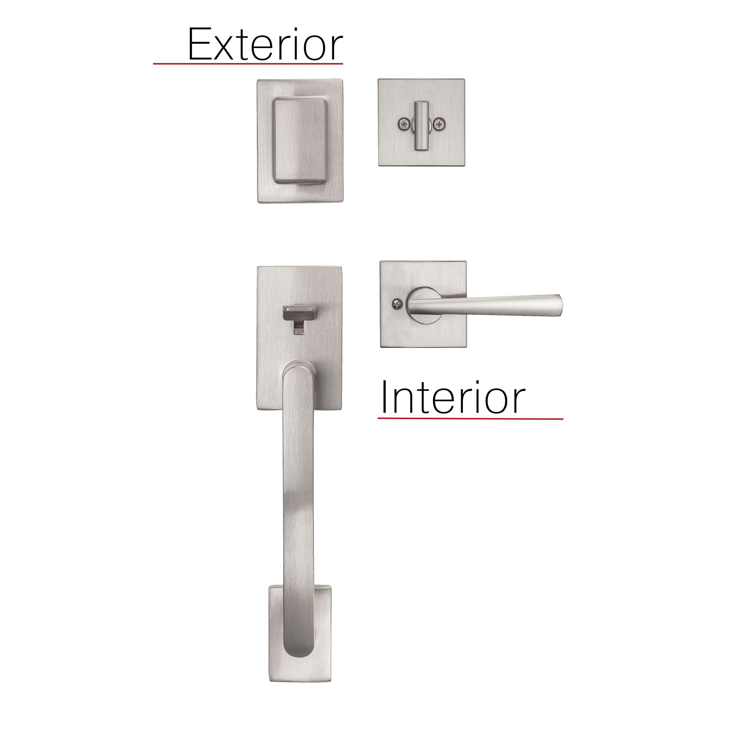 Baldwin Prestige Spyglass Single Cylinder Handle Set with Spyglass Lever Featuring Smart Key in Satin Nickel by Baldwin (Image #6)