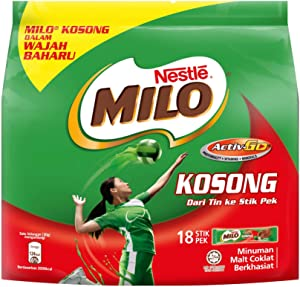 3 Pack Nestle Milo Kosong Sugar Free Activ-Go Chocolate Malt Drink (3 x 18 sachets) Free Express Delivery