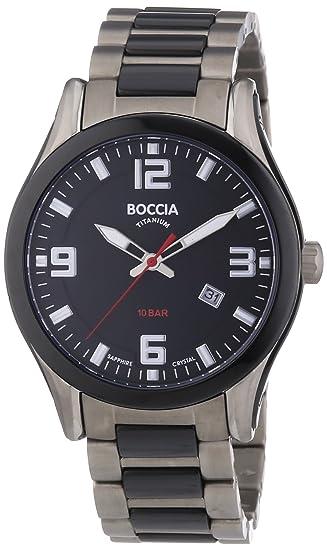 Boccia 3555-02 - Reloj analógico de cuarzo para hombre, correa de titanio multicolor: Amazon.es: Relojes