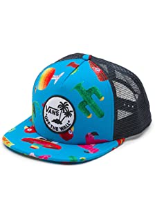 10b14f47914e5 Amazon.com  Vans Off The Wall Men s Hank Foto Trucker Snapback Hat ...