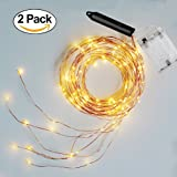Amazon Price History for:Soltuus 2 Pack 120 LED String Fairy Lights, Battery Operated Starry Copper String Lighting, Waterproof Watering Can Light, Firefly Moon for Plants Tree Vines Decorations Party, Warm White