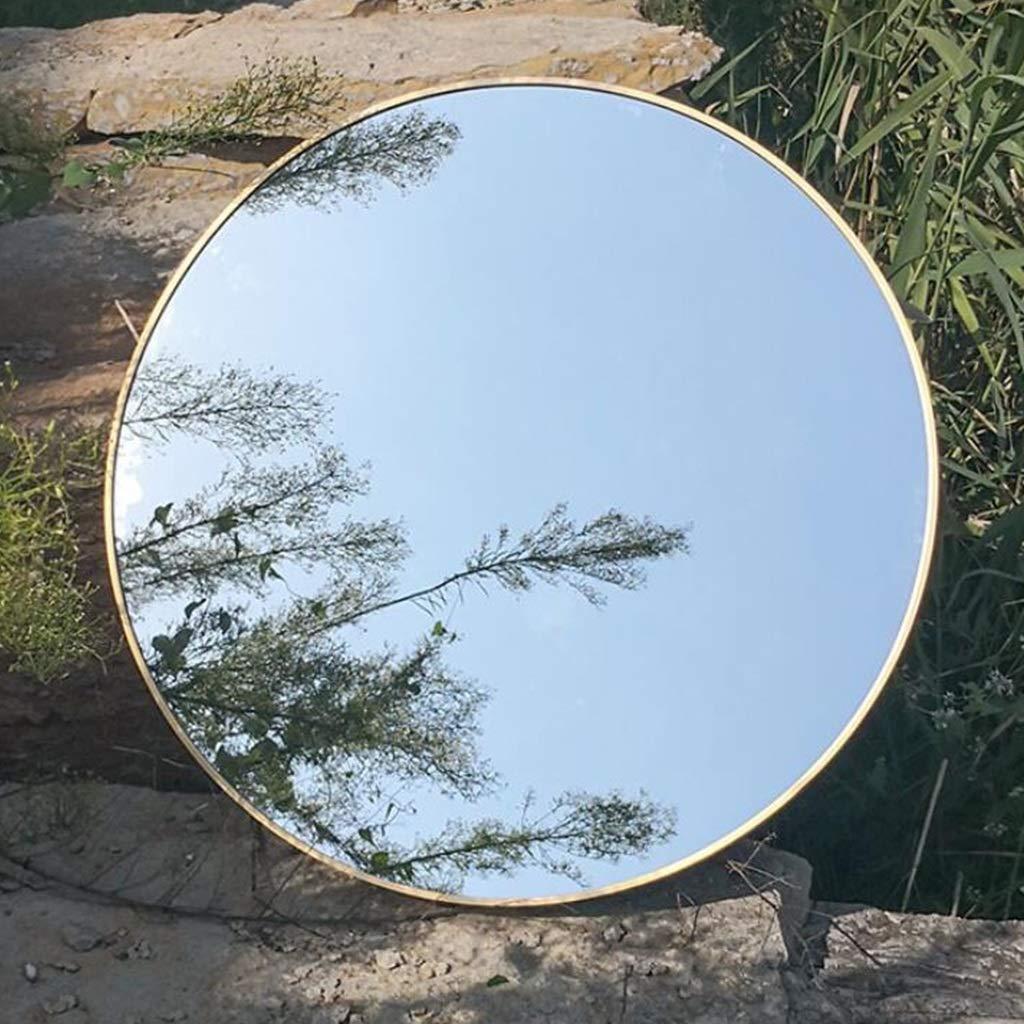 50cm SMC Mirror Home Simple Round Entrance Vanity Mirror Solid color Bathroom Vanity Mirror (color   50cm)