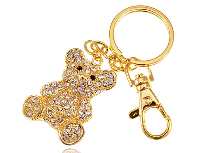 Amazoncom Alilang Silvery Tone Topaz Golden Crystal Encrusted