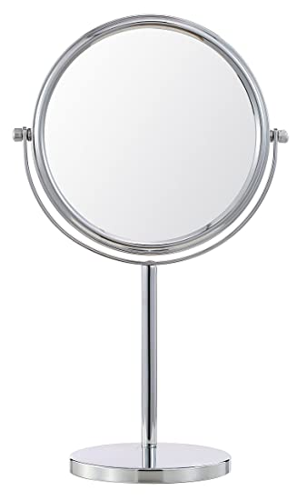 Cerdeco 8 Inch Two Sided Makeup Mirror With 5x Magnification Vanity Mirror  Tabletop Mirror Chrome