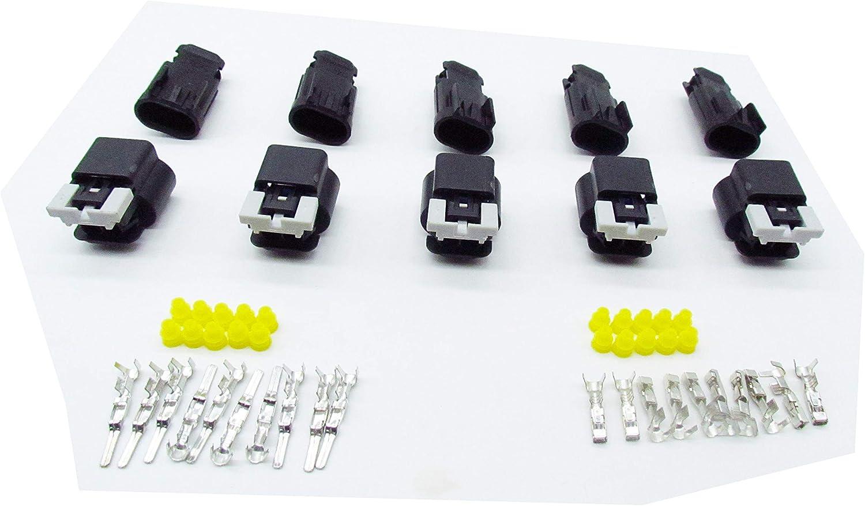 CNKF 5 Sets Delphi GM 2 pin male and female waterproof auto flex fule sensor connector 15326679 15326678