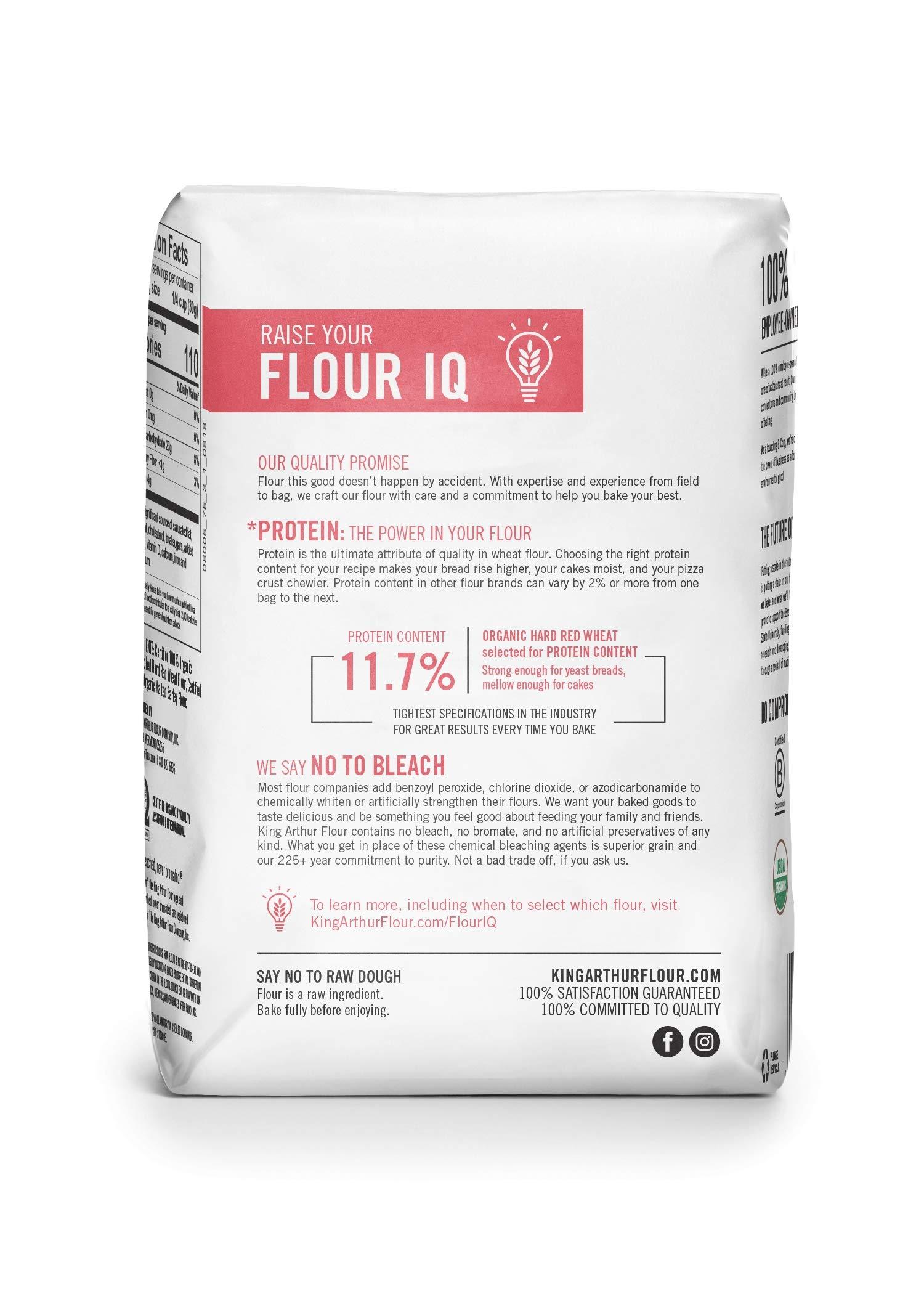 King Arthur Flour 100% Organic All-Purpose Flour, Unbleached, 2 Pound (Pack of 12) by King Arthur Flour (Image #2)