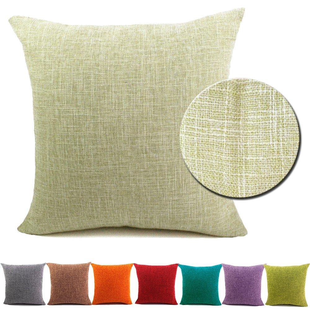 BIGU Cushion Covers Plain Cotton Linen Solid Square Pillow Covers Home Decoration Sofa Car Waist Throw Pillow Case 12
