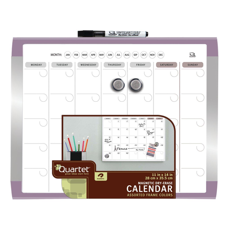 quartet 1 month calendar and magnetic dry erase