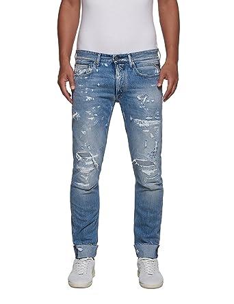 Replay Men's Ronas Men's Light Blue Slim-Fit Jeans In Size 31 W 32 L