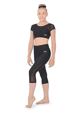 feb69098a99a9 The Zone Matt Capri Gymnastics Leggings with Mesh Panels: Amazon.co ...
