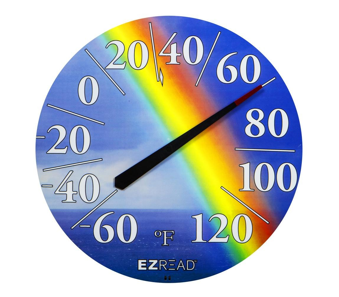 Headwind Consumer Products 840-1220 EZREAD Thermometer, Rainbow, 12.5''