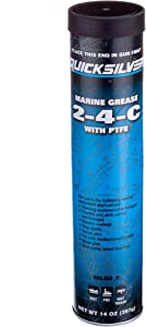 Quicksilver 802863Q1 2-4-C Marine Grease/Lubricant with PTFE, 14-Ounce Cartridge