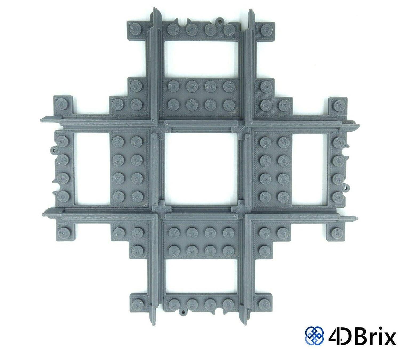 4DBrix Train Cross Track Set of 1 for Lego Tracks