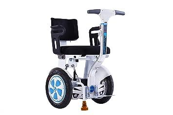 Airwheel A6TS - Silla de ruedas eléctrica ligera y todoterreno dirigida con el propio cuerpo a través del autoequilibrio. Versión manillar.