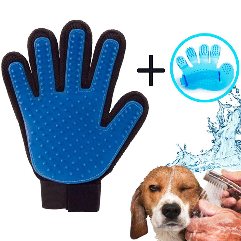 Masaje de mascotas y Ba/ño de cepillo y Peine iZoeL Guantes Manopla Masaje para mascotas perros gatos Retiro del pelo y Aparato de masaje