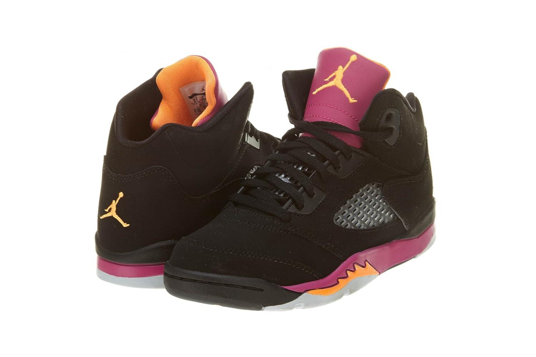 6d59835c43db Nike Air Jordan 5 Retro (PS) Girls Basketball Shoes 440893-067 Black 11 M  US  Amazon.ca  Shoes   Handbags
