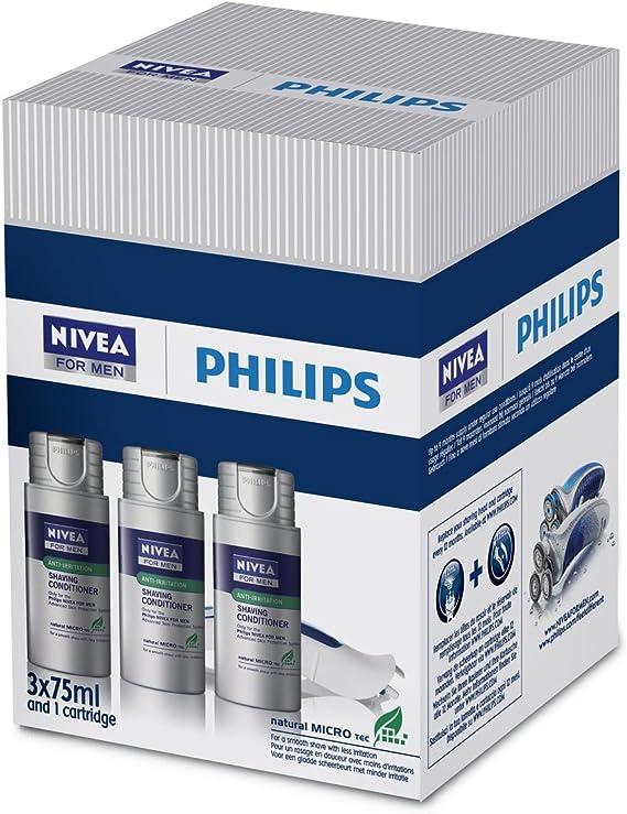 Philips HS 803/04 - Loción hidratante para el afeitado Nivea for Men para las afeitadoras HS8460 / HS8440 / HS8420 y HS8060 / HS8040 / HS8020 (3 unidades): Amazon.es: Salud y cuidado personal