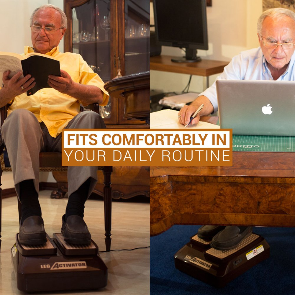 LegActivator - The Seated Leg Exerciser & Physiotherapy Machine for Seniors that Improves your Health and Blood Circulation while Sitting in the Comfort of your Home or Office by Silverfeat (Image #7)