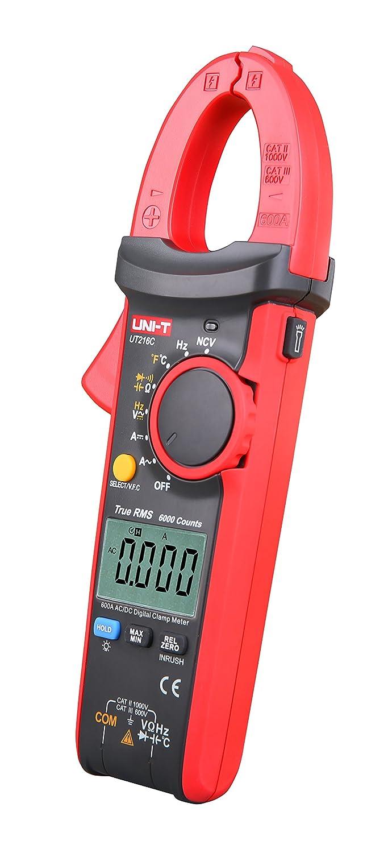 rango autom/ático Uni-T 600/Una aut/éntica pinza amperim/étrica 1 pieza frecuencia UT216C