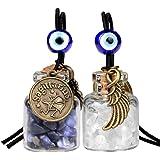 Zodiac Sagittarius Angel Wings Small Car Charms Home Decor Gem Bottles Sodalite Quartz Birthstone Amulets