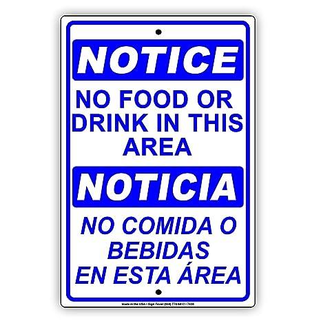 Amazon.com: OSHA Aviso no alimentos o Bebida in this Area ...