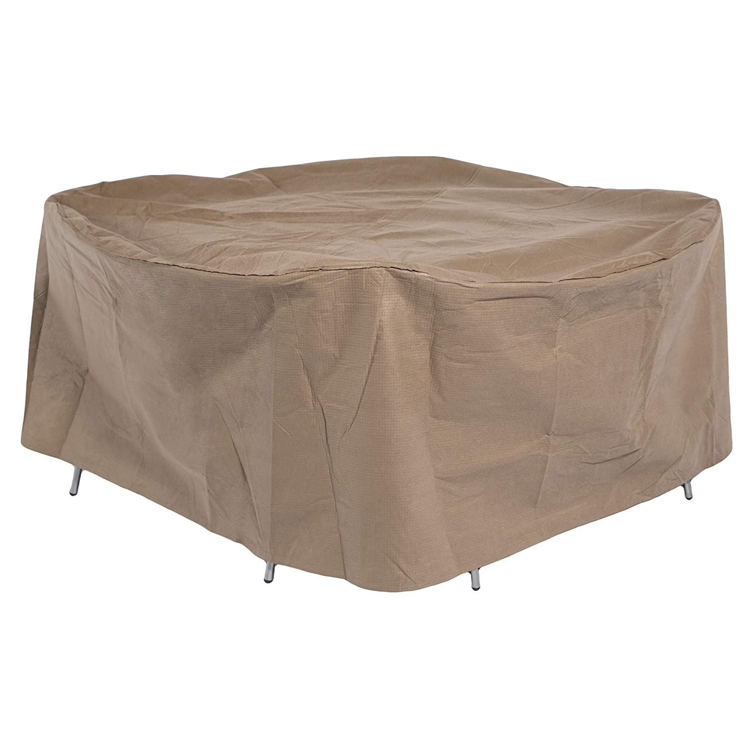 Duck Covers Essential Round Patio Table & Chair Set Cover, Fits Outdoor 108 Diameter ETR108108