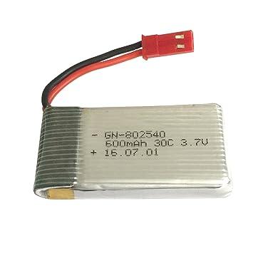 Outletdelocio Bateria Lipo 3,7v 600Mah 30C con Toma Bec para Drone ...