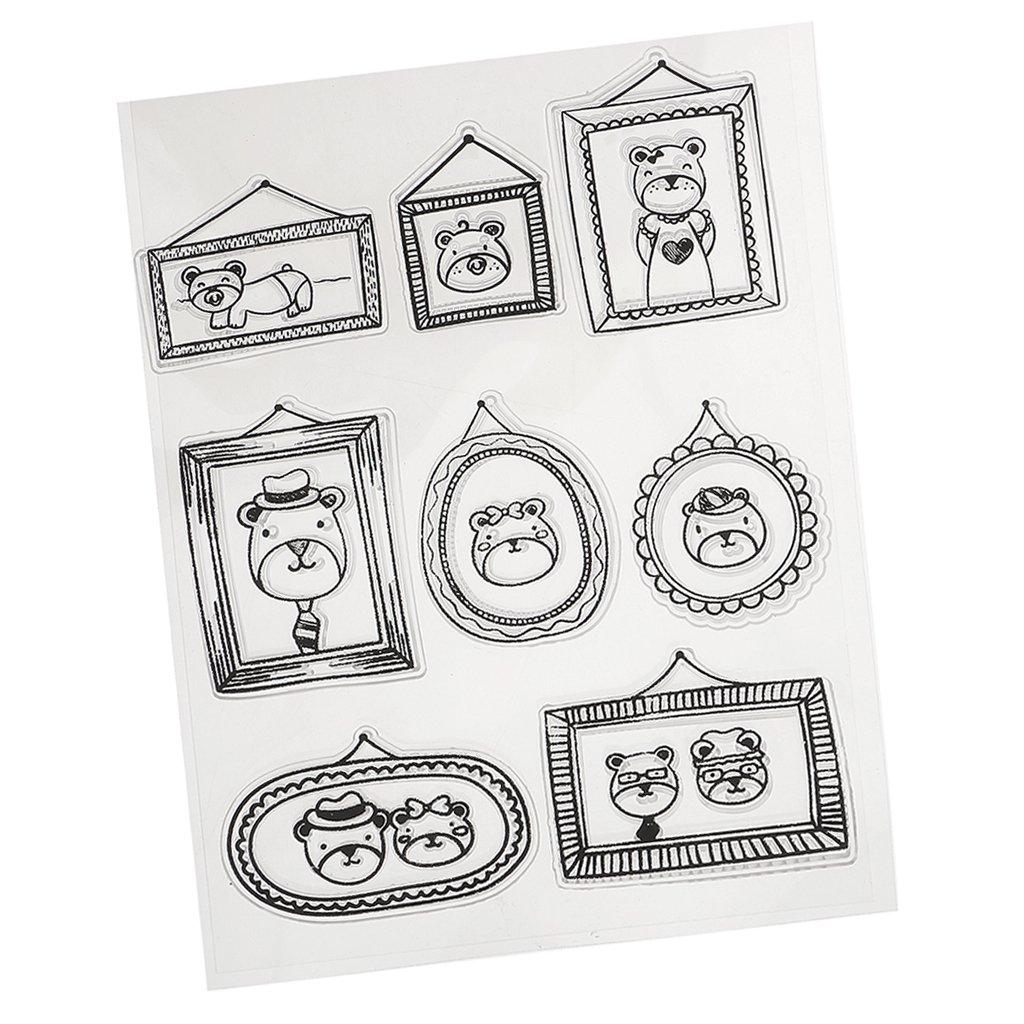 MagiDeal Hoja de Sello de Goma de Silicona Transparente para Tarjeta de Álbum de Recortes de DIY Scrapbooking - 1 #