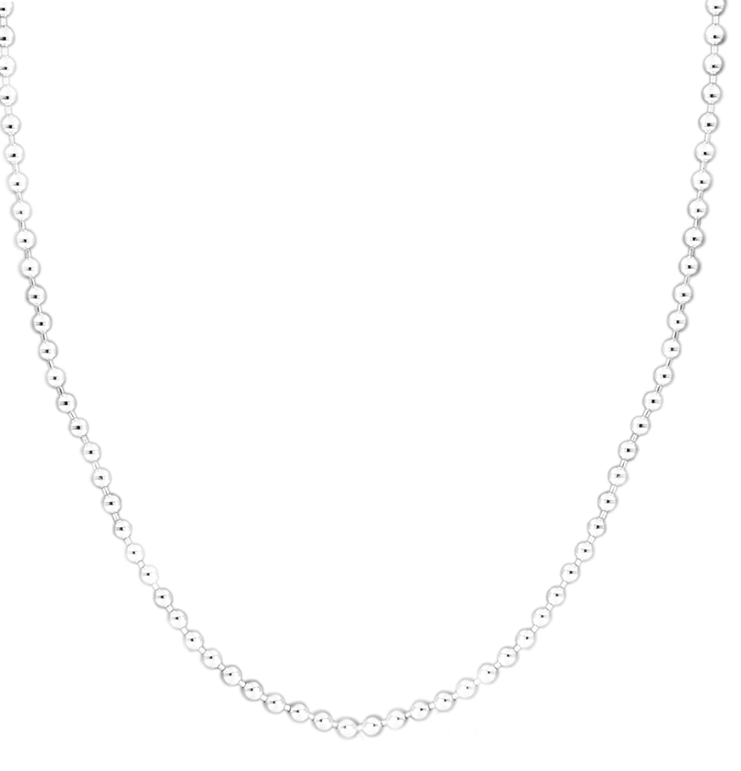 Tuscany Silver Sterling Silver 3mm Ball Chain Necklace of 56cm/22 zTEUtmeV8