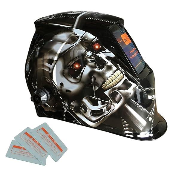 Sharplace Casco de Máscara de Soldadura de Filtro Auto-oscurecimiento Accionado Solar - USA Eagle: Amazon.es: Bricolaje y herramientas